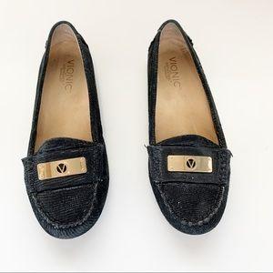 Vionic | Sydney Black Leather Loafers Size 6.5